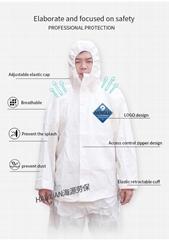White Disposable Protective Coveralls MS PE propylene Suit