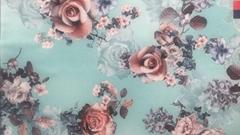 digital printing 100% polyester dress fabric