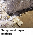 CHINA scrap WASTED white  paper