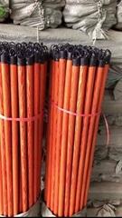 PVC Coated Wooden floor wiper stick