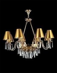 不鏽鋼加水晶造型吊燈