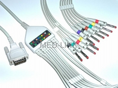 V0021A Schiller EKG Cable with leadwires