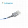 14pin>DB9 SpO2傳感器延長電纜兼容Masimo 4