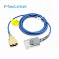 14pin>DB9 SpO2 sensor extension cable compatible for Masimo