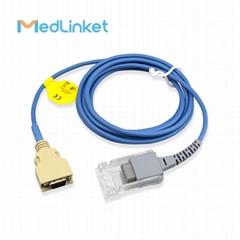 14pin>DB9 SpO2 sensor extension cable compatible for Masimo