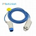 Bruker  (ODAM) adult finger clip spo2 sensor,Round12P>DB9F