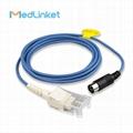 Schiller Argus TM-7 spo2 extension cable,Din7P>DB9F