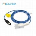 Datascope Accutorr 3/4 SAT spo2 extension cable