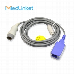 Mindray T5 T8 spo2 extension cable ,Round 8p>DB9F