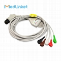 PHYSIO-CONTROL Lifepak 6 5leads ECG cable with leadwires