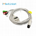 SPACELABS Series90300 5lead ECG cable with leadwires,Snap,AHA