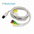 偉倫Propaq100 一體五導心電導聯線,扣式,歐標 1