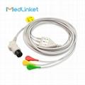 GE一體3導心電導聯線,扣式,美標 3