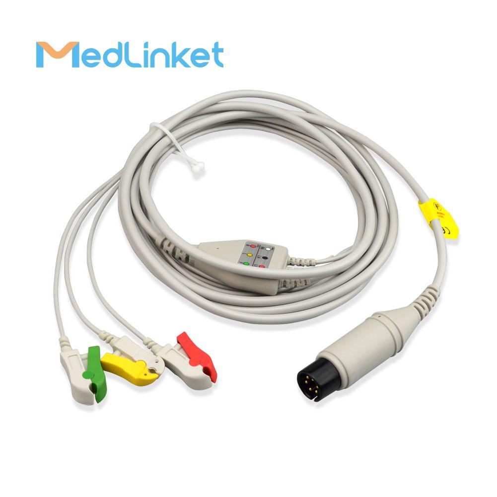 GE一體3導心電導聯線,扣式,美標 4