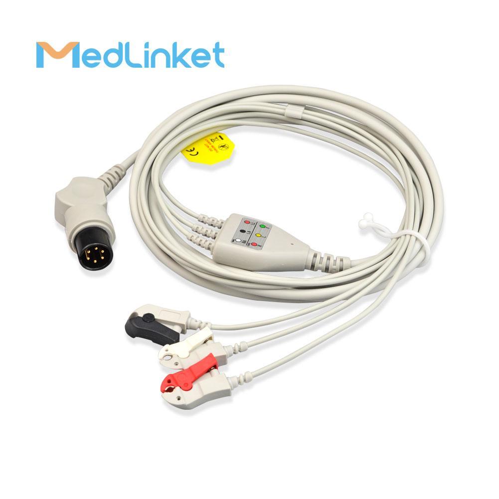 GE一體3導心電導聯線,扣式,美標 6