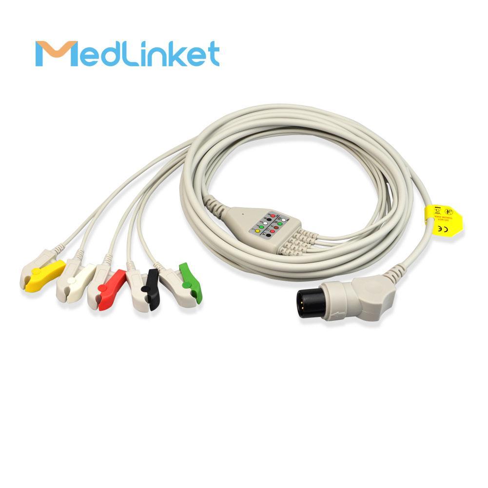 GE一體3導心電導聯線,扣式,美標 8