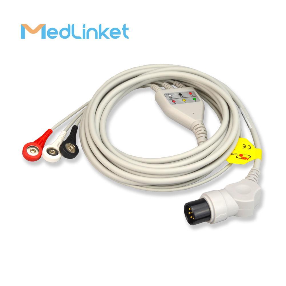 GE一體3導心電導聯線,扣式,美標 9