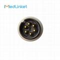 科林BP308一體三導心電導聯線,扣式,美標 14