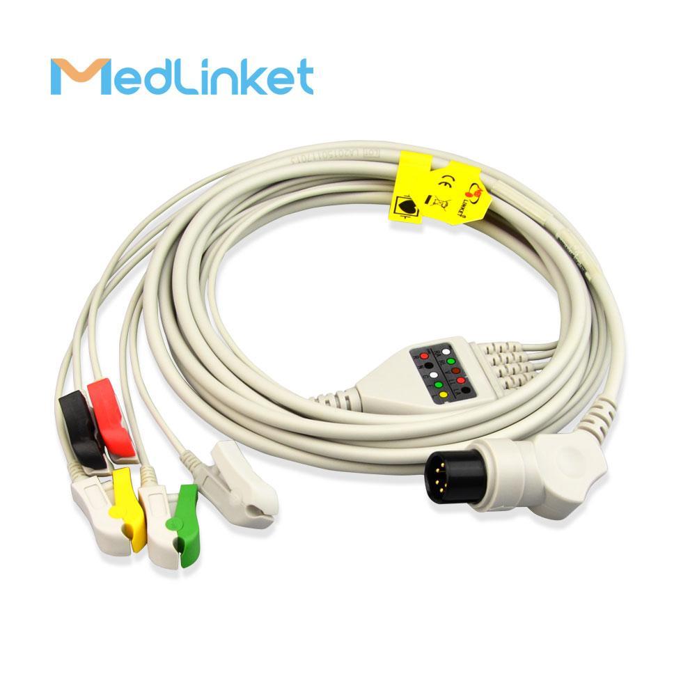 科林BP308一體三導心電導聯線,扣式,美標 4