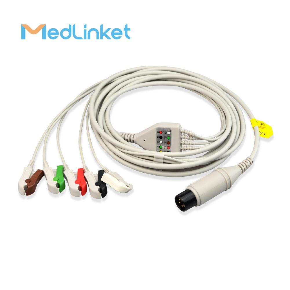 科林BP308一體三導心電導聯線,扣式,美標 7