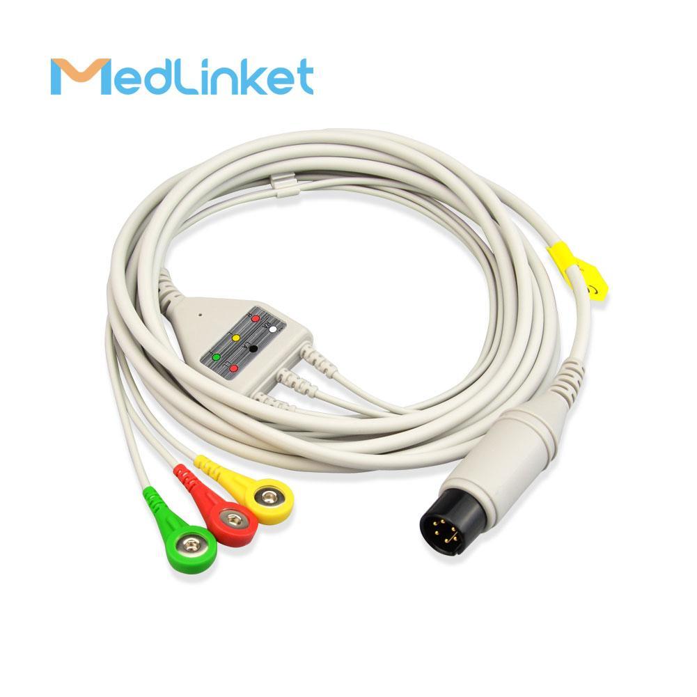 科林BP308一體三導心電導聯線,扣式,美標 10
