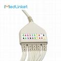 日本光電Cardiofax6151 10導心電圖機導聯線,夾式,美標 6
