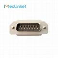 日本光電Cardiofax6151 10導心電圖機導聯線,夾式,美標 7