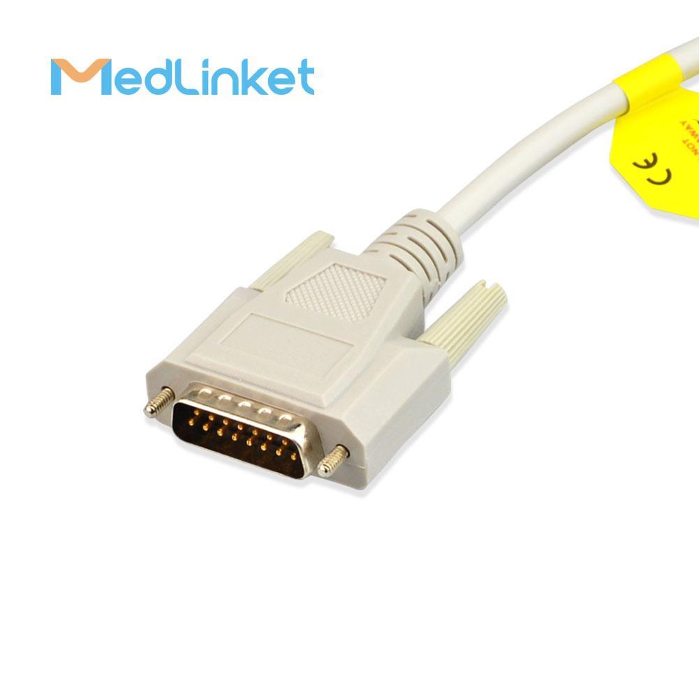 日本光電Cardiofax6151 10導心電圖機導聯線,夾式,美標 8