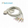 日本光電Cardiofax6151 10導心電圖機導聯線,夾式,美標 1