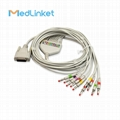 Nihon Kohden Cardiofax6151 10lead EKG cable,clip,AHA