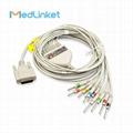 日本光電Cardiofax6151 10導心電圖機導聯線,夾式,美標 2