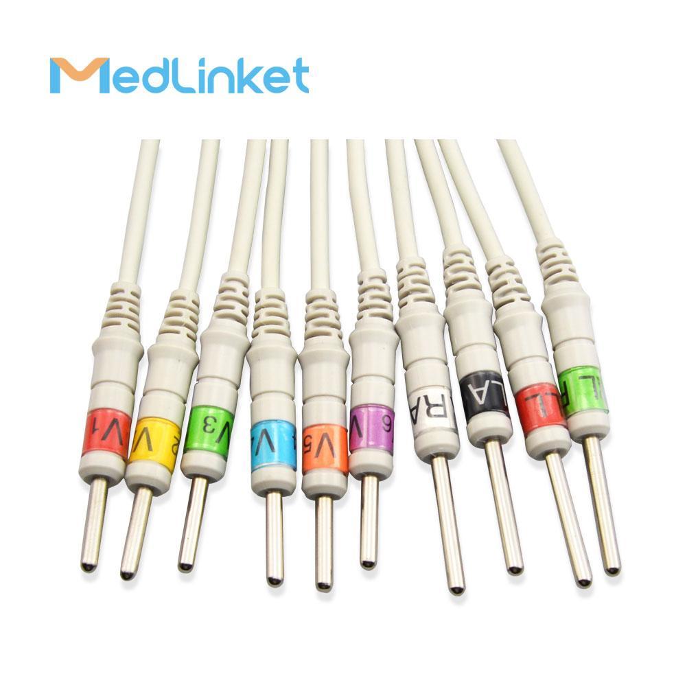 日本光電Cardiofax6151 10導心電圖機導聯線,夾式,美標 10