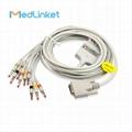 Nihon Kohden Cardiofax Q ECG-9110K 10lead EKG cable,banana,IEC