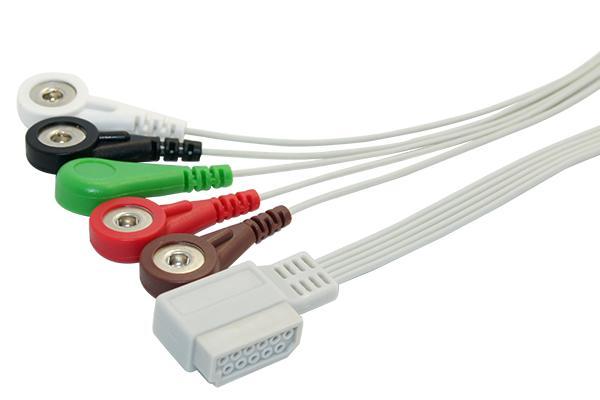 飛利浦Digitrak Plus一體五導心電線,102cm 1