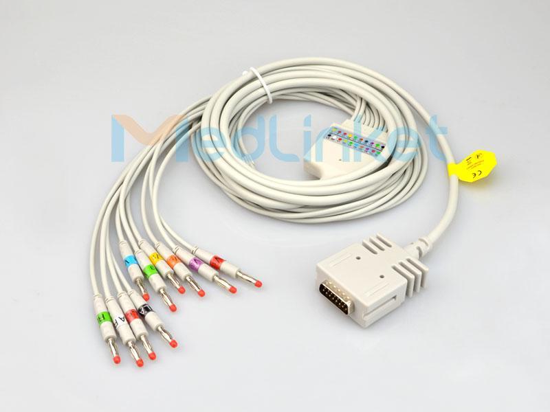 博迪克E550十二導心電圖機導聯線,香蕉插 2