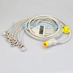 MORTARA Surveyor 十二導心電圖機導聯線,香蕉插