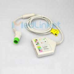 Fukuda 12-Lead ECG Trunk Cable,2.2m