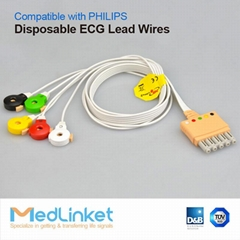 Philips Disposable 5lead ECG Leadwires