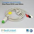 德恩 Cardiocap1三导心电导联线,扣式,美标