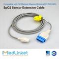 GE醫療Dash3000血氧延長線,11針轉插片6針 2