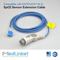 DATEX OXY-SL3 spo2 extension cable,Round 10J>8J