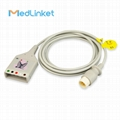 M1600A 5lead ECG Trunk cable,9ft,Round 8p>AA-5LD