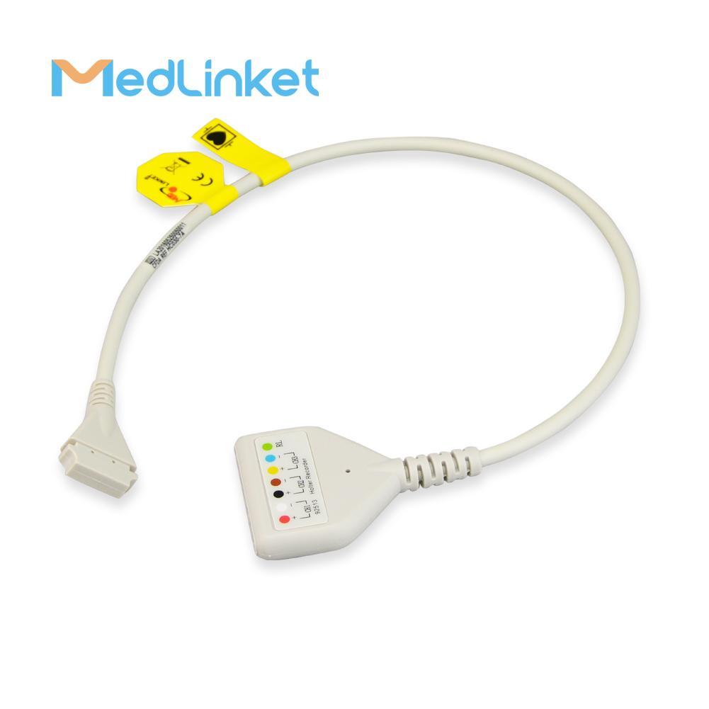 博迪克din 5導心電電纜 3CH, 45 cm,PCB 7pin>Din 5J 1