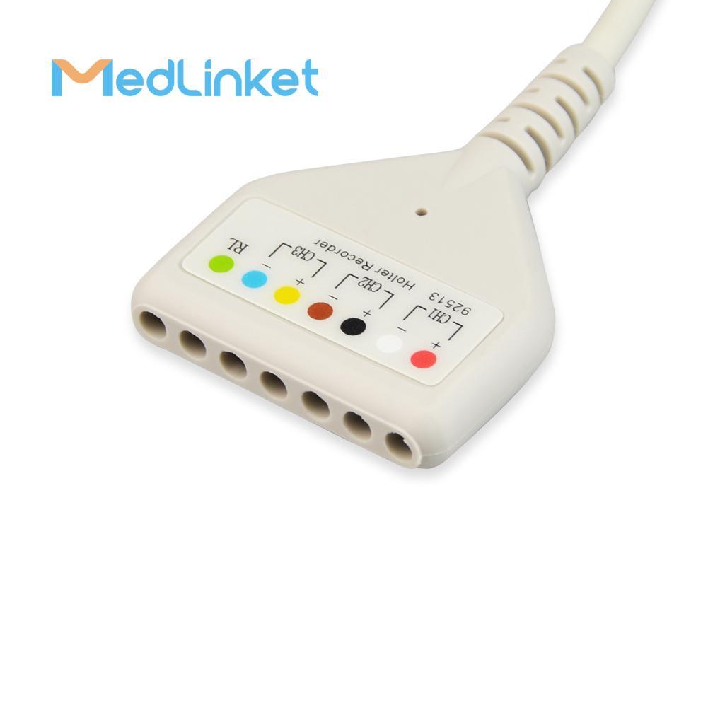 博迪克din 5導心電電纜 3CH, 45 cm,PCB 7pin>Din 5J 2
