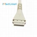 博迪克din 5導心電電纜 3CH, 45 cm,PCB 7pin>Din 5J 4
