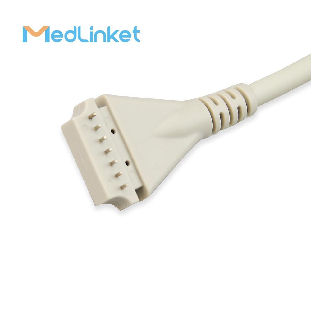 博迪克din 5導心電電纜 3CH, 45 cm,PCB 7pin>Din 5J 5