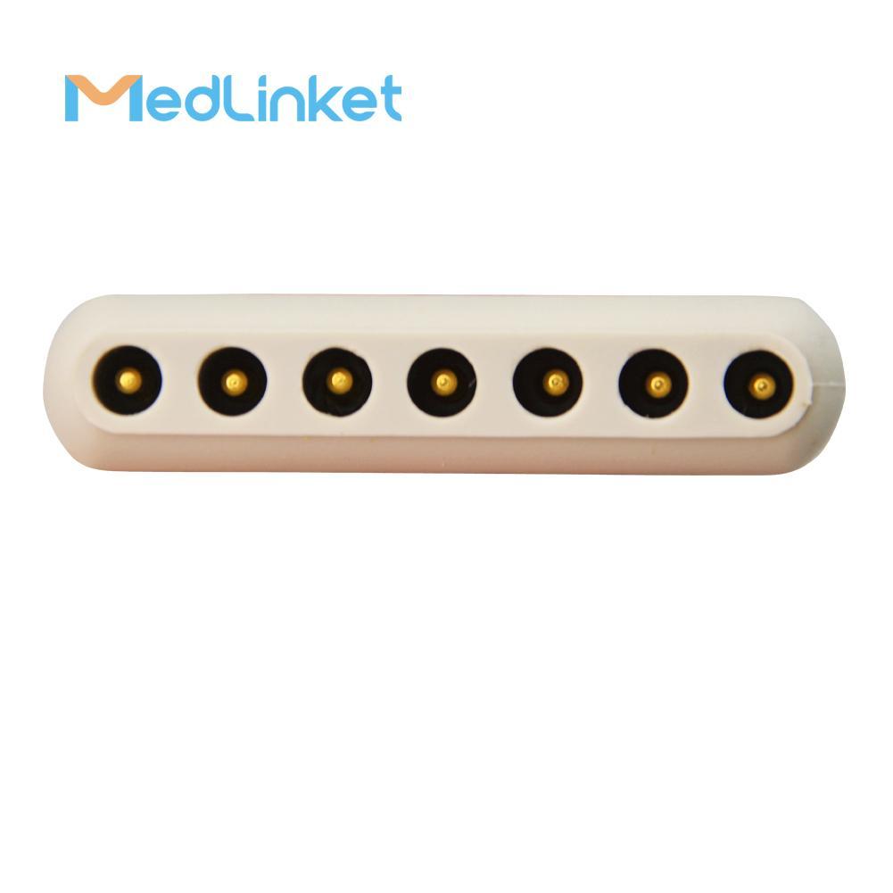 博迪克din 5導心電電纜 3CH, 45 cm,PCB 7pin>Din 5J 6