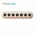 Burdick Din 5lead ECG Trunk Cable, 3CH, 45 cm,PCB 7pin>Din 5J