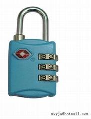 TSA combination padlock