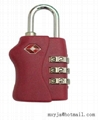 TSA travel bag combination lock
